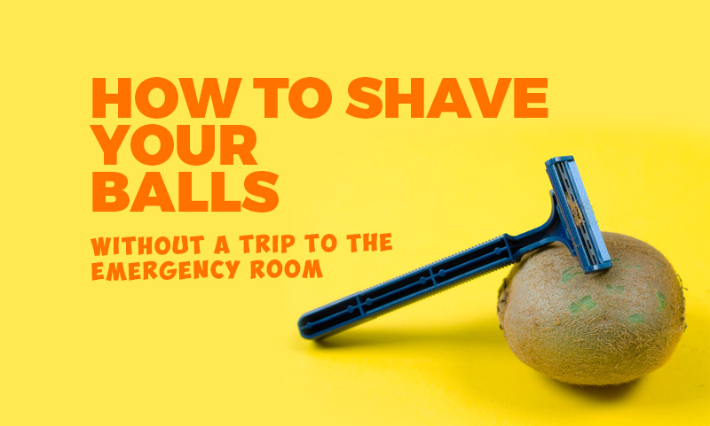 How to shave balls